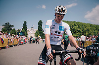 white jersey / best young rider S&oslash;ren Kragh Andersen (DEN/Sunweb) waiting to sign on<br /> <br /> Stage 10: Annecy &gt; Le Grand-Bornand (159km)<br /> <br /> 105th Tour de France 2018<br /> &copy;kramon