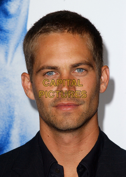 PAUL WALKER.L.A. Premiere of Into The Blue held at The Mann's Village Theatre in Westwood, California  .September 21st, 2005.Ref: DVS.headshot portrait stubble facial hair.www.capitalpictures.com.sales@capitalpictures.com.Supplied By Capital PIctures