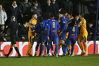 Tempers flare during Maldon & Tiptree vs Newport County, Emirates FA Cup Football at the Wallace Binder Ground on 29th November 2019