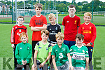 Keelan O'Donoghue, Mark Looney, Kevin Looney, Ryan O'Callaghan. Back row: Matthew Clifford, Colm Looney, Joshua Williams, Dylan Falvey and Daniel O'Keeffe at the Killarney Celtic family funday on Sunday