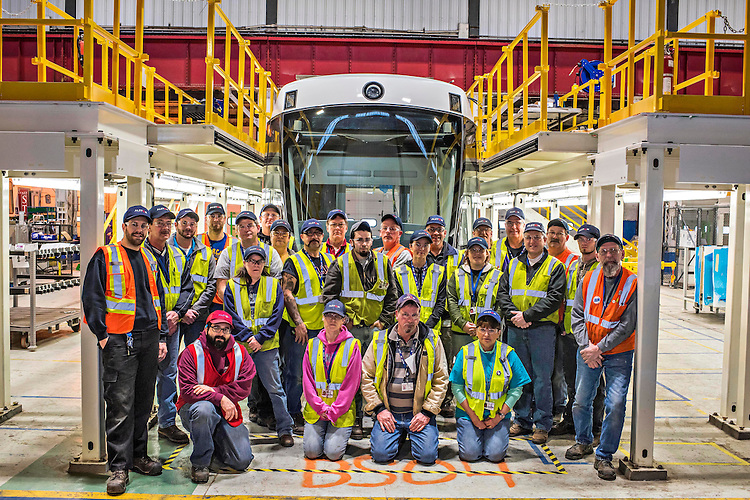 Assembly line, Ottawa Project, Alstom, Hornell, NY, USA. Feb. 4-5, 2016