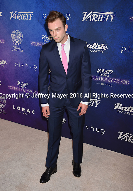 HOLLYWOOD, CA - AUGUST 16: Actor Sterling Beaumon arrives at Variety's Power Of Young Hollywood at NeueHouse Hollywood on August 16, 2016 in Los Angeles, California.