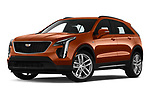 Stock pictures of low aggressive front three quarter view of 2019 Cadillac XT4 Sport 5 Door SUV Low Aggressive