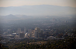 Smoky air continues to choke Northern Nevada, seen from a hot air balloon on media day at the 32nd annual Great Reno Balloon Race in Reno, Nev., on Thursday, Sept. 5, 2013.  <br /> Photo by Cathleen Allison