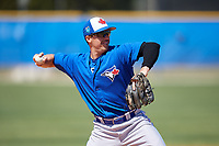 Toronto Blue Jays Nash Knight (35) during a Minor League Spring Training Intrasquad game on March 14, 2018 at Englebert Complex in Dunedin, Florida.  (Mike Janes/Four Seam Images)