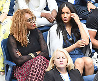 NEW YORK, NY - September 7 : Anna Wintour, Oracene Price, Meghan Markle, Duchess of Sussex watch the Women's Singles Finals match between Serena Williams vs Bianca Andressscu on Arthur Ashe Stadium during the 2019 US Open Tennis Tournament at the USTA Billie Jean King National Tennis Center on September 7, 2019 in Flushing, Queens, New York City, <br /> CAP/MPI/JP<br /> ©JP/MPI/Capital Pictures