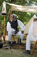 Continental Army reenactor, 1st. Rhode Island Regiment, Revolutionary War, Monmouth Battlefield State Park, New Jersey