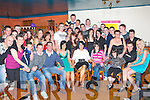 18TH BIRTHDAY: Natasha Hogan, Hawley Park (seated 3rd left) having a great time celebrating her 18th birthday with large group of family and friends at the Ballymac bar on Saturday.   Copyright Kerry's Eye 2008