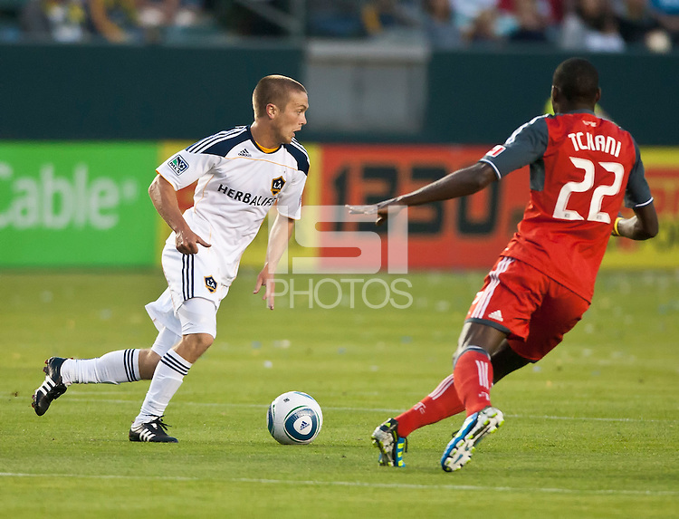 CARSON, CA – June 11, 2011: LA Galaxy Michael Stephens (26) during the match between LA Galaxy and Toronto FC at the Home Depot Center in Carson, California. Final score LA Galaxy 2, Toronto FC 2.