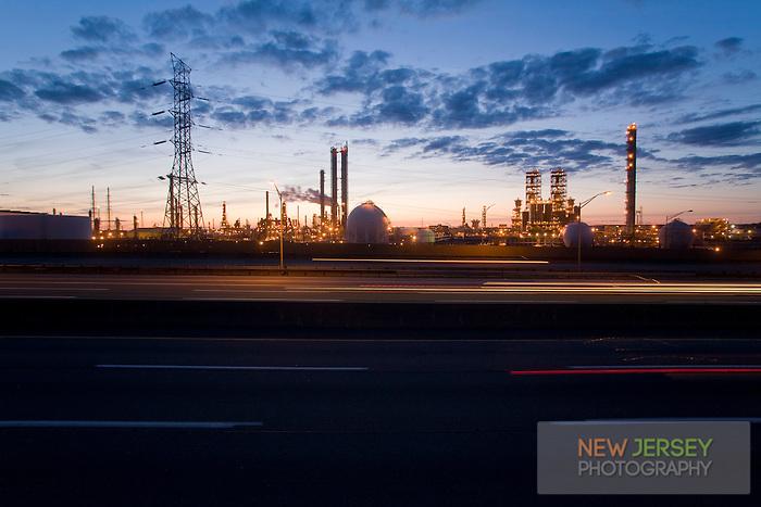 Oil Refinery, New Jersey Turnpike, New Jersey