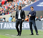 Tottenham's Mauricio Pochettino looks on dejected during the premier league match at the Wembley Stadium, London. Picture date 20th August 2017. Picture credit should read: David Klein/Sportimage