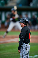 Great Falls Voyagers manager Tim Esmay (10) during the game against the Ogden Raptors at Lindquist Field on September 14, 2017 in Ogden, Utah. The Raptors defeated the Voyagers 7-4 in Game One of the Pioneer League Championship. (Stephen Smith/Four Seam Images)