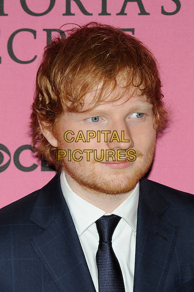 LONDON, ENGLAND - DECEMBER 2: Ed Sheeran attends the pink carpet for Victoria's Secret Fashion Show 2014, Earls Court on December 2, 2014 in London, England.<br /> CAP/MAR<br /> &copy; Martin Harris/Capital Pictures