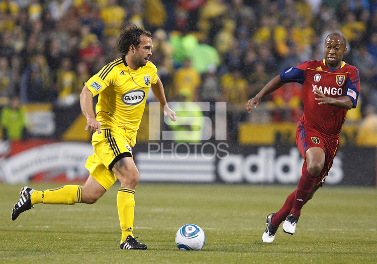 24 APRIL 2010:  Adam Moffat during the Real Salt Lake at Columbus Crew MLS soccer game in Columbus, Ohio. Columbus Crew defeated RSL 1-0 on April 24, 2010.