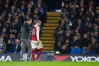 Arsenal's Jack Wilshere leaves the pitch with an injury <br /> <br /> Photographer Craig Mercer/CameraSport<br /> <br /> The Carabao Cup - Semi-Final 1st Leg - Chelsea v Arsenal - Wednesday 10th January 2018 - Stamford Bridge - London<br />  <br /> World Copyright &copy; 2018 CameraSport. All rights reserved. 43 Linden Ave. Countesthorpe. Leicester. England. LE8 5PG - Tel: +44 (0) 116 277 4147 - admin@camerasport.com - www.camerasport.com