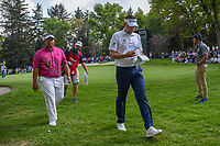 Ian Poulter (GBR) and Kiradech Aphibarnrat (THA) head to 16 during round 3 of the World Golf Championships, Mexico, Club De Golf Chapultepec, Mexico City, Mexico. 2/23/2019.<br /> Picture: Golffile | Ken Murray<br /> <br /> <br /> All photo usage must carry mandatory copyright credit (© Golffile | Ken Murray)