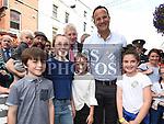 An Taoiseach leo Varadkar meets Annabelle matthews, Robin O'Connell, Aoife and Cillian Rourke at Fleadh Ceoil na hEireann. Photo:Colin Bell/pressphotos.ie