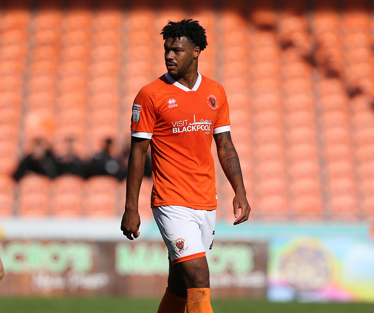 Blackpool's Joe Nuttall<br /> <br /> Photographer Stephen White/CameraSport<br /> <br /> The EFL Sky Bet League One - Blackpool v Portsmouth - Saturday 31st August 2019 - Bloomfield Road - Blackpool<br /> <br /> World Copyright © 2019 CameraSport. All rights reserved. 43 Linden Ave. Countesthorpe. Leicester. England. LE8 5PG - Tel: +44 (0) 116 277 4147 - admin@camerasport.com - www.camerasport.com
