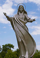 Stainless steel Virgin Mary statue in Sioux City, Iowa