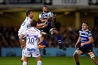 Semesa Rokoduguni of Bath Rugby claims the ball in the air. Gallagher Premiership match, between Bath Rugby and Exeter Chiefs on October 5, 2018 at the Recreation Ground in Bath, England. Photo by: Patrick Khachfe / Onside Images
