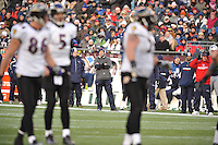 In the first round of the playoffs, the Ravens traveled to New England to face the Patriots in the wild card game. The underdog Ravens came out fast and never looked back leading the entire game and defeating the heavily favored Patriots by a final score of 33 - 14.