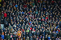 Bradford City fans during the Sky Bet League 1 match between Blackburn Rovers and Bradford City at Ewood Park, Blackburn, England on 29 March 2018. Photo by Thomas Gadd.