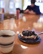 December 02, 2009. Raleigh, North Carolina.. Pies around the Triangle for DISH.. Blueberry chesse pie at Remedy Diner