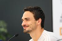 Mats Hummels (Deutschland Germany) - 29.05.2018: Pressekonferenz der Deutschen Nationalmannschaft zur WM-Vorbereitung in der Sportzone Rungg in Eppan/Südtirol