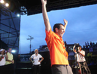 Venezuelan President candidate for the opposition Capriles Radonski closes his campaign in Bolivar state Southern Venezuela