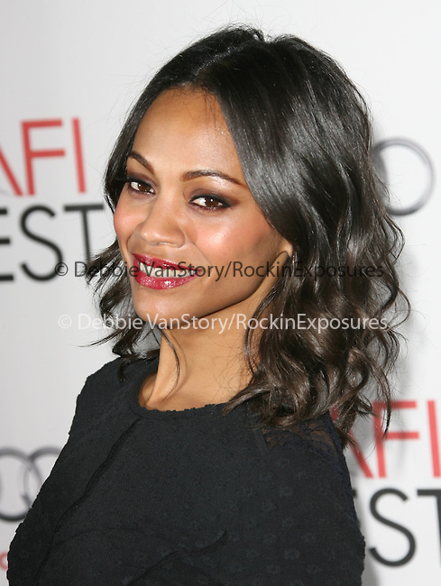 Zoe Saldana attends the AFI Fest 2010 Centerpiece Gala Screening of Abel held at The Grauman's Chinese Theatre in Hollywood, California on November 07,2010                                                                               © 2010 Hollywood Press Agency