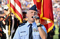 STANFORD, CA - JUNE 29: National anthem during a Major League Soccer (MLS) match between the San Jose Earthquakes and the LA Galaxy on June 29, 2019 at Stanford Stadium in Stanford, California.