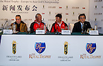 Captains and Vice Captain attend clinic prior to the Royal Trophy  Europe vs Asia Golf Championship at the Dragon Lake Golf Club in Guangzhou, China on 18 December 2013. Photo by Xaume Olleros / The Power of Sport Images