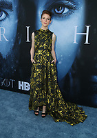 "LOS ANGELES, CA July 12- Rose Leslie,  At Premiere Of HBO's ""Game Of Thrones"" Season 7 at The Walt Disney Concert Hall, California on July 12, 2017. Credit: Faye Sadou/MediaPunch"