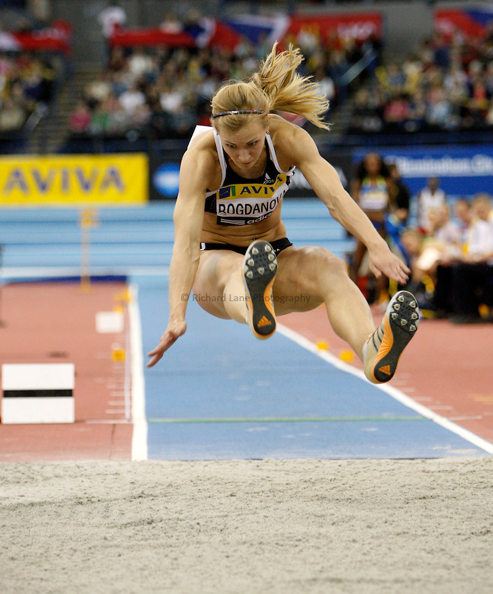 Photo: Richard Lane/Richard Lane Photography..Aviva Grand Prix. 21/02/2009. Russia's Anna Bogdanova during the long jump of the women's three event challenge.