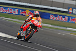 Repsol Honda rider Marc Marquez at the 2013 Red Bull Indianapolis Moto Grand Prix at Indianapolis Motor Speedway.