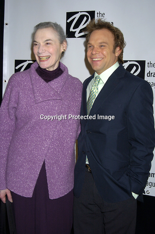 Marion Seldes and Norbert Leo Butz..at the 71st Annual Drama League Awards Luncheon on ..May 13, 2005 at the Marriott Marquis Hotel. ..Photo by Robin Platzer, Twin Images