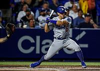 Austin Barnes de dodgers, durante el partido de beisbol de los Dodgers de Los Angeles contra Padres de San Diego, durante el primer juego de la serie las Ligas Mayores del Beisbol en Monterrey, Mexico el 4 de Mayo 2018.<br /> (Photo: Luis Gutierrez)