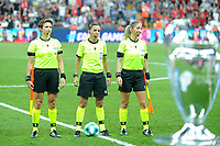 Referee Stephanie Frappart (C) , Assisance Referees Manuela Nicolosi (R) and Michelle O Neill (L) during the UEFA SUPERCUP match between Liverpool and Chelsea at Vodafone Park in Istanbul , Turkey on August 14 , 2019. PUBLICATIONxNOTxINxTUR<br /> Foto Imago/Insidefoto