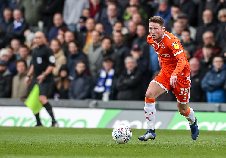 Blackpool's Jordan Thompson breaks<br /> <br /> Photographer Andrew Kearns/CameraSport<br /> <br /> The EFL Sky Bet League Two - Bristol Rovers v Blackpool - Saturday 2nd March 2019 - Memorial Stadium - Bristol<br /> <br /> World Copyright © 2019 CameraSport. All rights reserved. 43 Linden Ave. Countesthorpe. Leicester. England. LE8 5PG - Tel: +44 (0) 116 277 4147 - admin@camerasport.com - www.camerasport.com