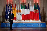 Paolo Gentiloni<br /> Roma 10/01/2018. 4° Vertice dei paesi del sud dell'Unione Europea<br /> Rome January 10th 2018. 4th Summit of the southern EU Countries<br /> Foto Samantha Zucchi Insidefoto