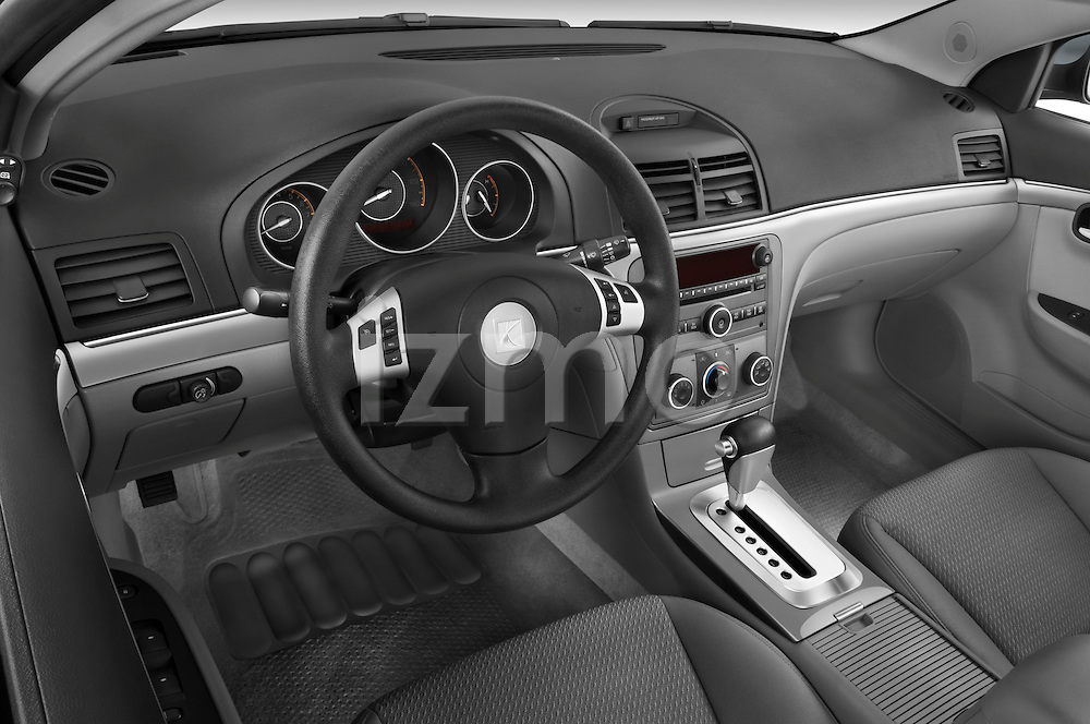 High angle dashboard view of a  2008 saturn acura