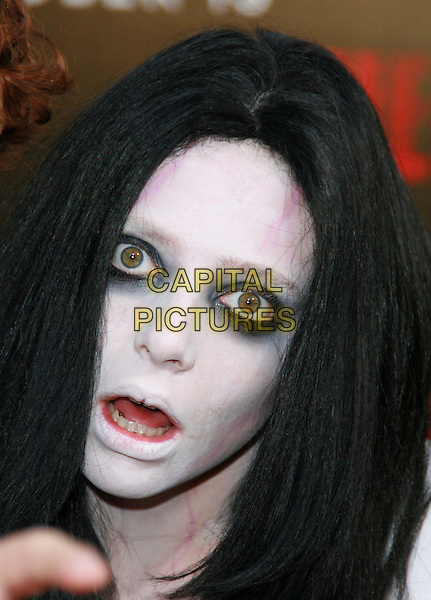 "GRUDGE GIRL.""The Grudge 2"" Los Angeles Premiere held at Knotts Scary Farm, Buena Park, California, USA..Ref: ADM/CH.October 8th, 2006.headshot portrait make up white face make-up eyeliner scary.www.capitalpictures.com.sales@capitalpictures.com.©Charles Harris/AdMedia/Capital Pictures."