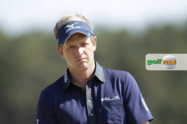 Luke DONALD (ENG) during round two of  The 142th Open Championship Muirfield, Gullane, East Lothian, Scotland 19/7/2013<br /> Picture Eoin Clarke www.golffile.ie: