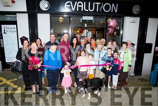 Kerry goalkeeper Brian Kelly cuts the tape to officially open Eva O'Dowd-Riordan new shop Evalution Hair Specialists in Killarney on Saturday