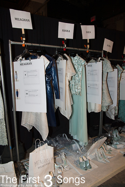 General view of atmosphere backstage at the Christian Siriano fashion show during Mercedes-Benz Fashion Week Spring 2015 at Eyebeam on September 6, 2014 in New York City.