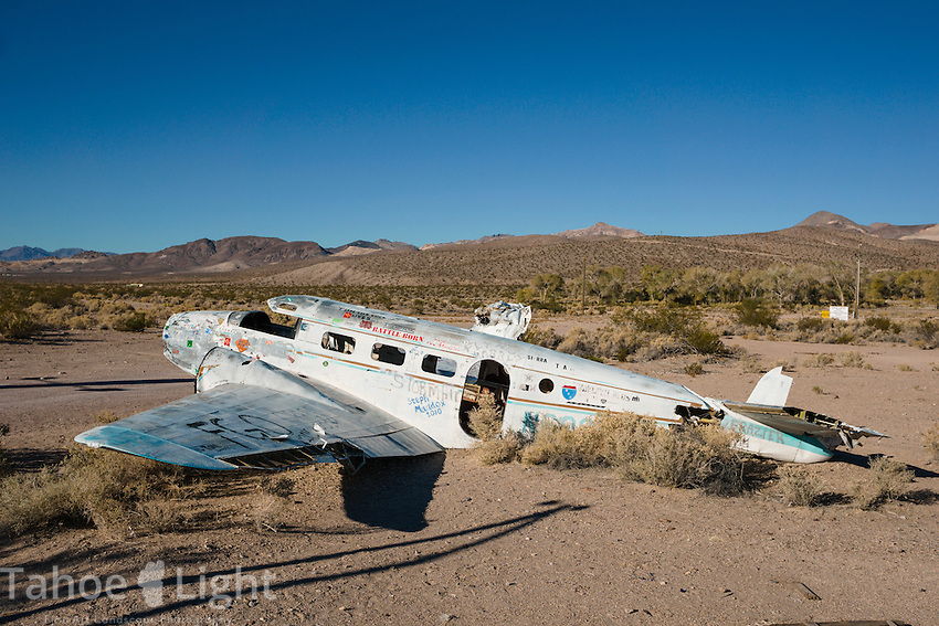 Crashed plane at Angel's Landing brothel in Rural Nevada south of Tonopah.