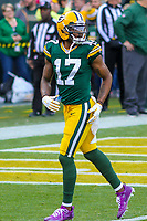 Green Bay Packers wide receiver Davante Adams (17) during a National Football League game against the Tampa Bay Buccaneers on December 2nd, 2017 at Lambeau Field in Green Bay, Wisconsin. Green Bay defeated Tampa Bay 26-20. (Brad Krause/Krause Sports Photography)