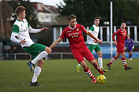 Remi Sutton of Hornchurch and Tommy Leigh of Bognor during Hornchurch vs Bognor Regis Town, BetVictor League Premier Division Football at Hornchurch Stadium on 30th November 2019