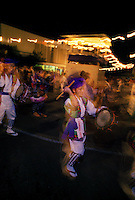 Japanese Obon festival with obon dancers honoring their ancesters