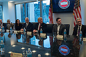 United States President-elect Donald Trump, Vice President-elect Mike Pence, cabinet nominees and technology company chiefs are seen at a meeting  in the Trump Organization conference room at Trump Tower in New York, NY, USA on December 14, 2016. <br /> Credit: Albin Lohr-Jones / Pool via CNP